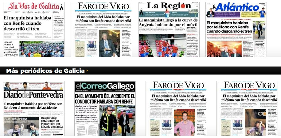 Diarios gallegos